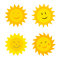 Stock Image : Suns with smile