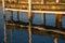 Stock Image : Sunset on Boat Dock Slip