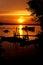 Stock Image : Sunset over Perak River
