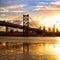 Stock Image : Sunset over Philadelphia