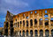 Stock Image : Sunset of Rome Colosseum