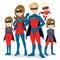 Stock Image : Superhero Family Costume