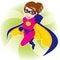 Stock Image : Superhero Woman
