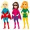 Stock Image : Superhero Women Posing