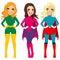 Stock Image : Superhero Women Standing