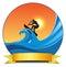 Stock Image : Surf padlling
