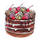 Stock Image : Sweet Cake with cherries