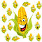 Stock Image : Sweet corn cartoon