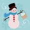 Stock Image : Sweet Snowman