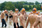 Swimmers preparte to swim Midmar Mile event