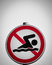 Stock Image : Swimming forbidden sign