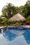 Stock Image : Swimming pool in tropical garden