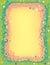 Stock Image : Swirl Flower Border