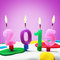 Stock Image : Symbol of the new year 2015 on the cake