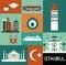 Stock Image : Symbols of Istanbul.