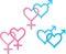 Stock Image : Symbols of sexual orientation