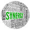 Stock Image : Synergy concept in word tag cloud