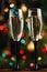 Stock Image :  Szampańscy szkła na progu nowego roku