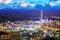 Stock Image : Taipei, Taiwan evening skyline