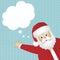 Stock Image :  Tarjeta de Santa Claus