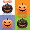 Stock Image :  Tarjetas de Halloween