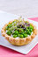 Stock Image : Tartlets with green peas