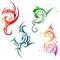 Stock Image : Tattoo ornaments set