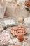 Stock Image :  Tavola di cena rotonda di nozze eleganti