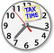 Stock Image : Tax Time Clock taxes due date