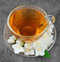 Stock Image : Tea with white flowers of jasmine