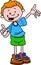 Stock Image : The teaching boy