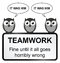Stock Image : Teamwork sign