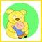 Stock Image : Teddy Bear and the boy_2