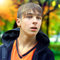 Stock Image : Teenager in the Autumn Park
