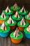 Stock Image : Teepee cupcakes
