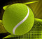 Tennis ball on abstract background