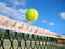 Stock Image : Tennis ball over the net
