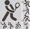 Stock Image : Tennis icons