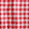 Stock Image : Texture of a red and white checkered picnic blanket.