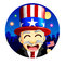 Stock Image : 4th of July Character
