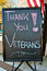 Stock Image : Thank You Veterans Sign