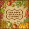 Stock Image : Thanksgiving Retro Card