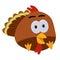 Stock Image : Thanksgiving Baby Turkey Cartoon