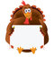 Stock Image : Thanksgiving Turkey with copyspace