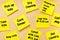 Stock Image : Things To Do Post-it Memo Tasks Female