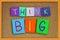 Stock Image : Think Big