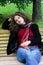 Stock Image : Thinking girl