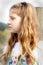 Stock Image : Thoughtful pretty tween girl