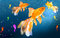 Stock Image : Three goldfish and seahorses