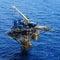Stock Image : Three Legged Oil and Gas Remote Platform